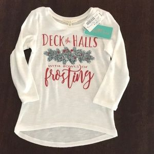 Copper Key size 2T girls long sleeve holiday top
